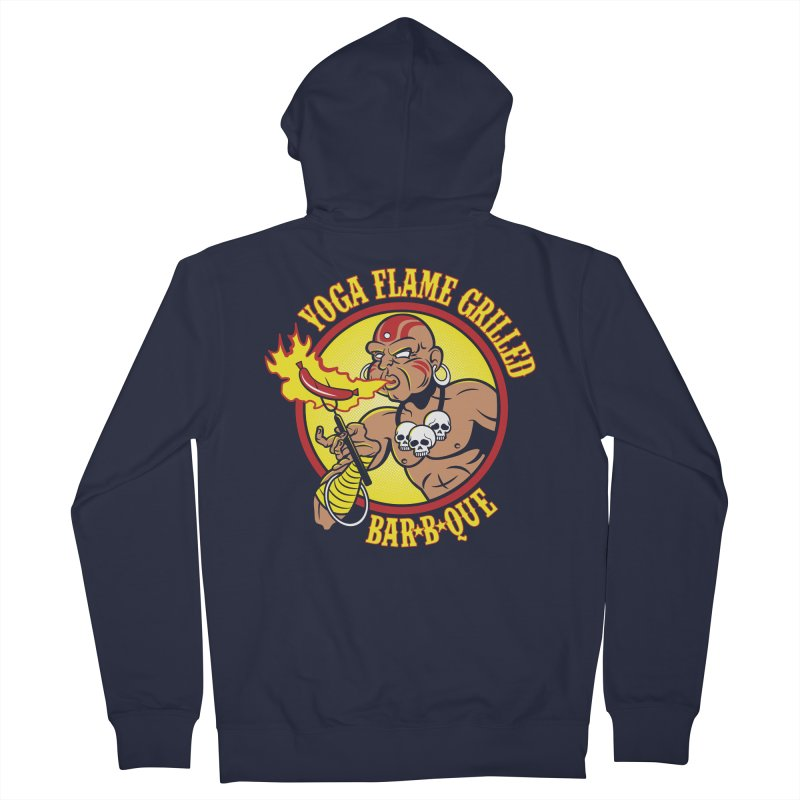 Yoga Flame Grilled BBQ Men's Zip-Up Hoody by Fanboy30's Artist Shop