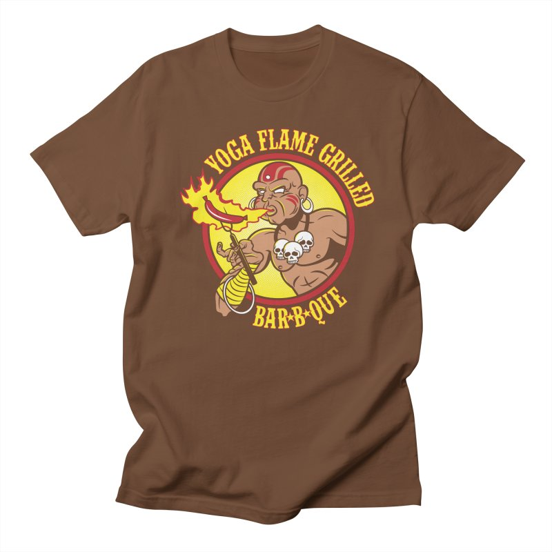 Yoga Flame Grilled BBQ Men's T-shirt by Fanboy30's Artist Shop