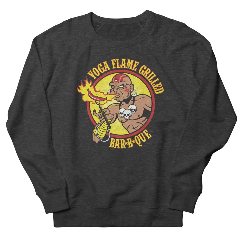 Yoga Flame Grilled BBQ Women's Sweatshirt by Fanboy30's Artist Shop