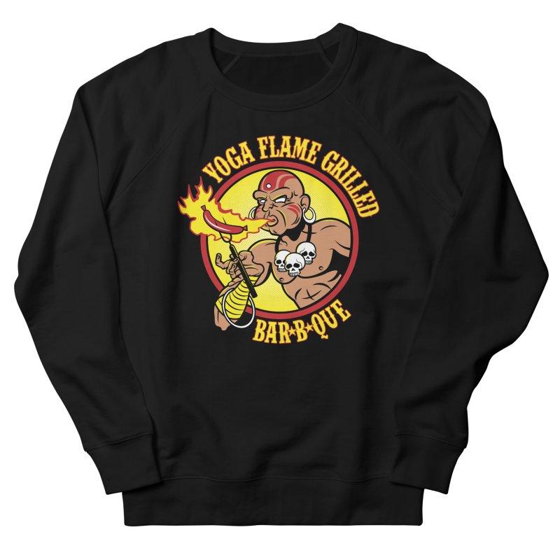 Yoga Flame Grilled BBQ Men's Sweatshirt by Fanboy30's Artist Shop