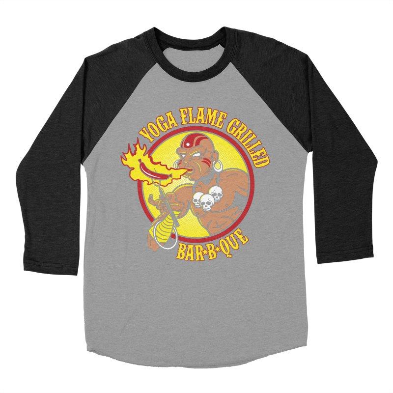 Yoga Flame Grilled BBQ Men's Baseball Triblend T-Shirt by Fanboy30's Artist Shop