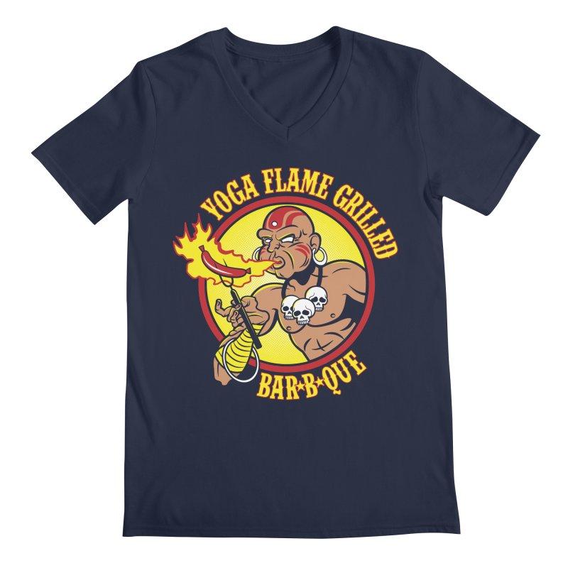 Yoga Flame Grilled BBQ Men's V-Neck by Fanboy30's Artist Shop