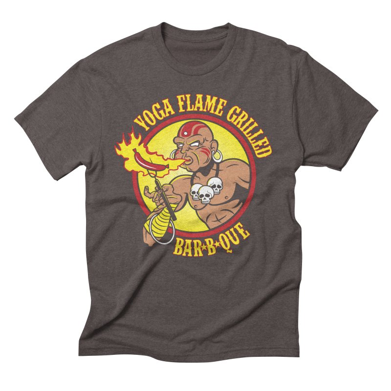 Yoga Flame Grilled BBQ Men's Triblend T-shirt by Fanboy30's Artist Shop