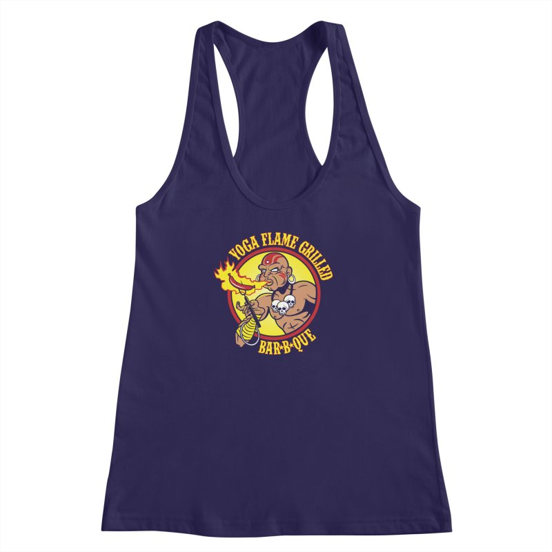 Yoga Flame Grilled BBQ Women's Racerback Tank by Fanboy30's Artist Shop