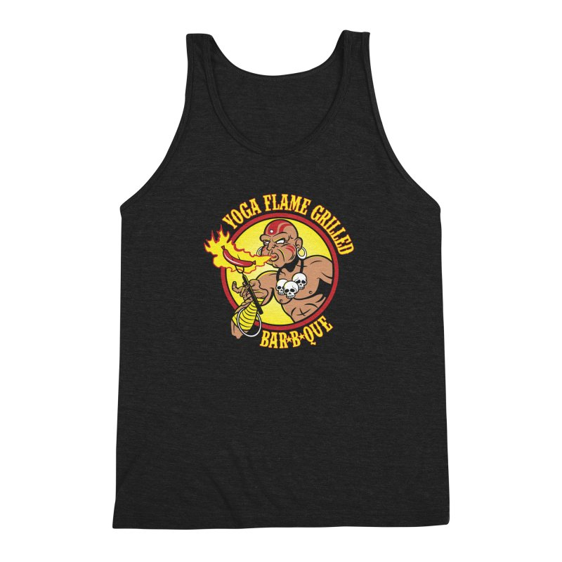 Yoga Flame Grilled BBQ Men's Triblend Tank by Fanboy30's Artist Shop