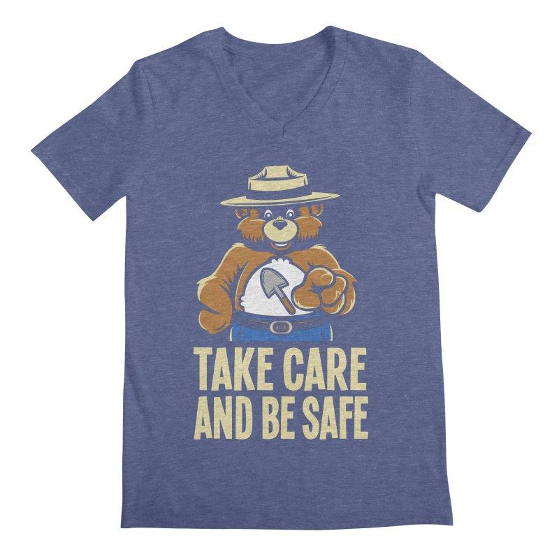 Take Care Men's V-Neck by Fanboy30's Artist Shop