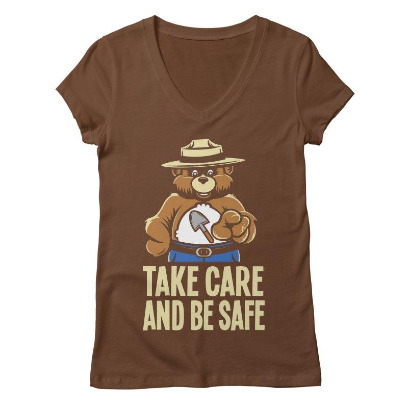 Take Care Women's V-Neck by Fanboy30's Artist Shop