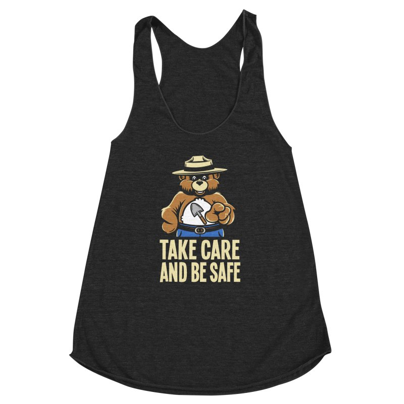 Take Care Women's Racerback Triblend Tank by Fanboy30's Artist Shop