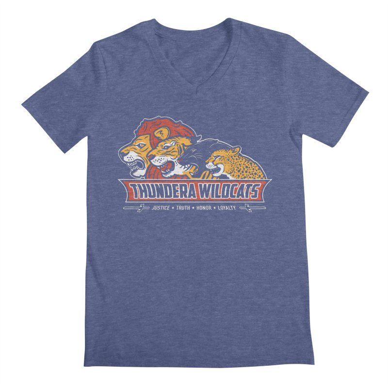 Thundera Wildcats Men's V-Neck by Fanboy30's Artist Shop