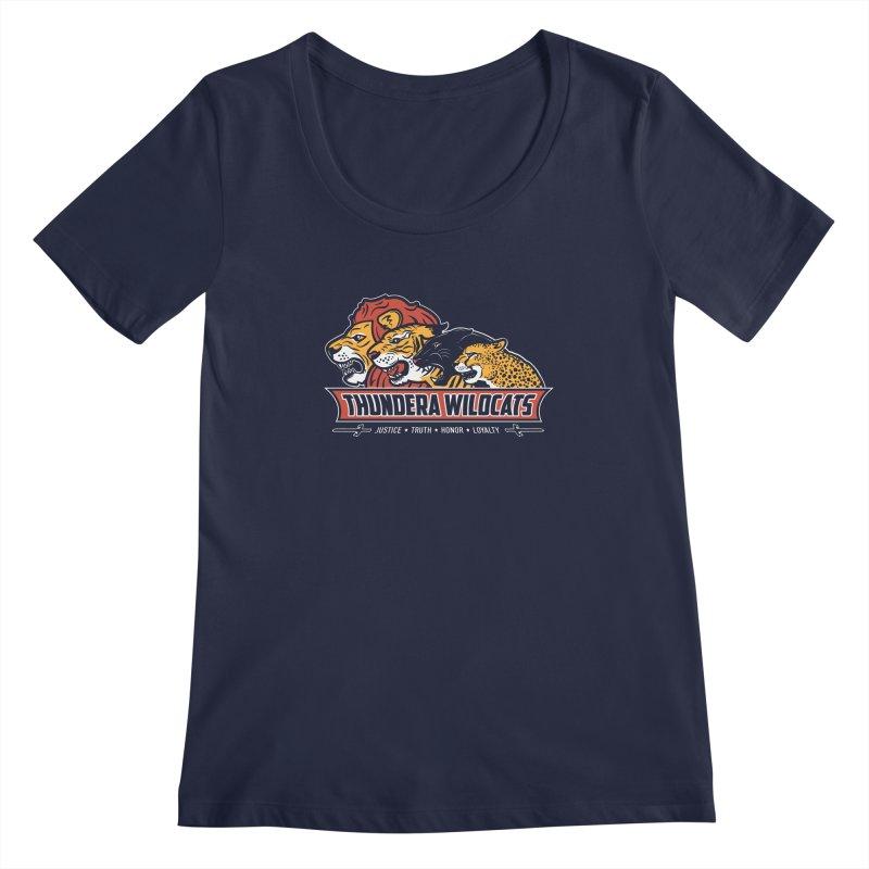 Thundera Wildcats Women's Scoopneck by Fanboy30's Artist Shop