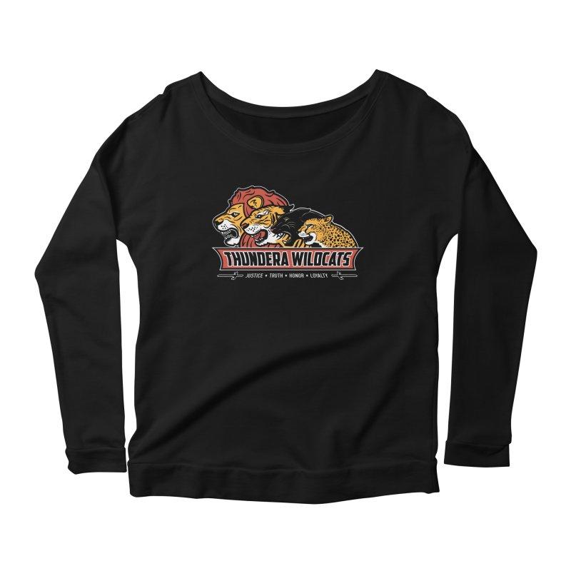 Thundera Wildcats Women's Longsleeve Scoopneck  by Fanboy30's Artist Shop