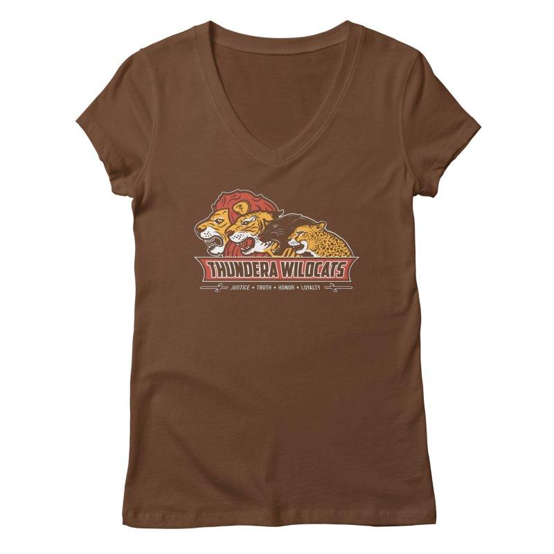 Thundera Wildcats Women's V-Neck by Fanboy30's Artist Shop
