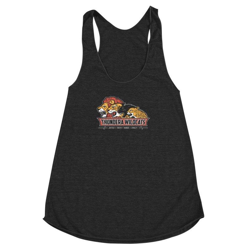 Thundera Wildcats Women's Racerback Triblend Tank by Fanboy30's Artist Shop