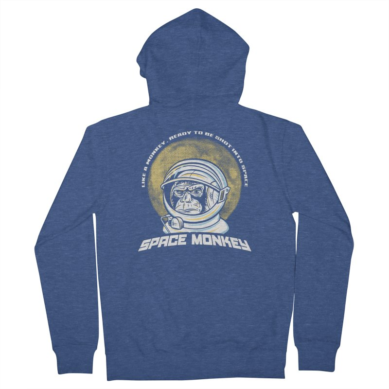 Space Monkey Women's Zip-Up Hoody by Fanboy30's Artist Shop