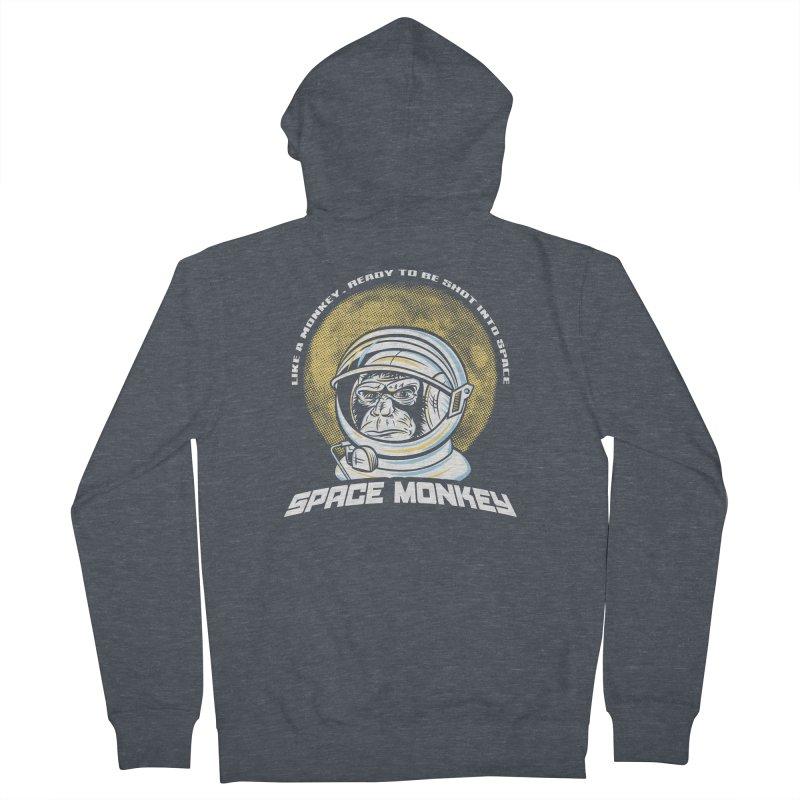 Space Monkey Men's Zip-Up Hoody by Fanboy30's Artist Shop