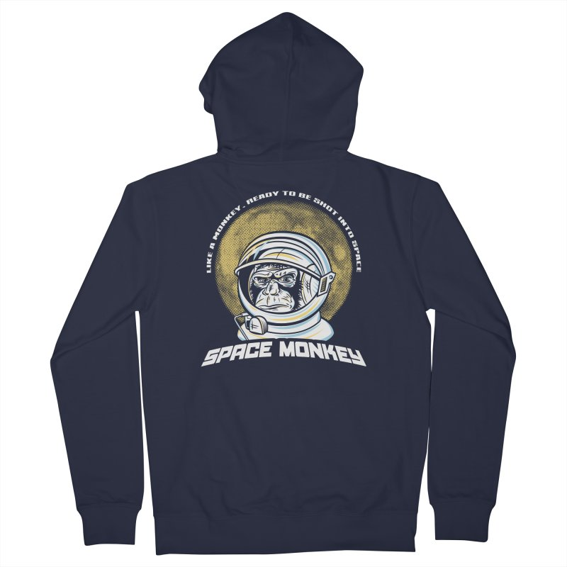 Space Monkey Men's Zip-Up Hoody by Fanboy30's Artist Shop