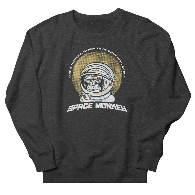 Space Monkey Men's Sweatshirt by Fanboy30's Artist Shop