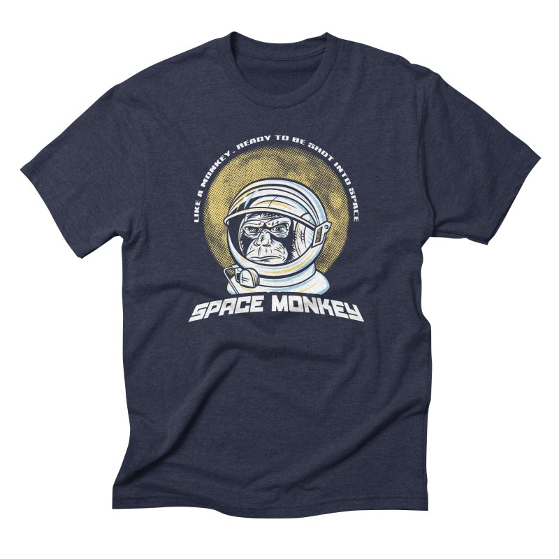Space Monkey Men's Triblend T-shirt by Fanboy30's Artist Shop