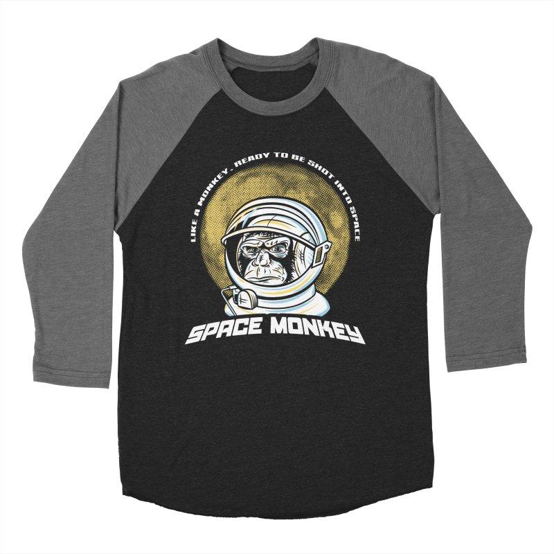 Space Monkey Men's Baseball Triblend T-Shirt by Fanboy30's Artist Shop