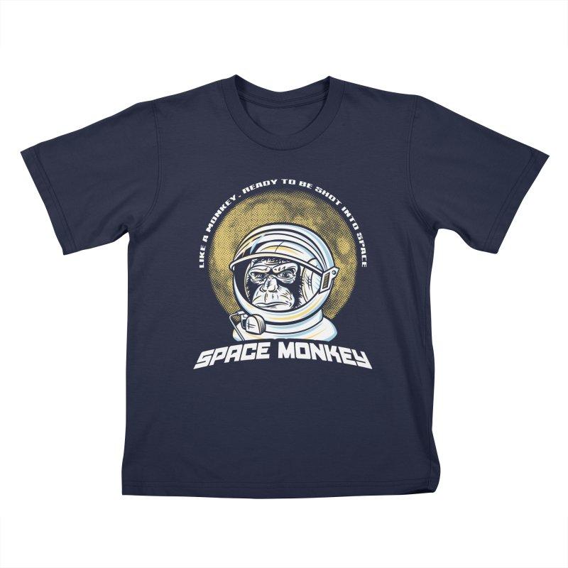 Space Monkey Kids T-Shirt by Fanboy30's Artist Shop