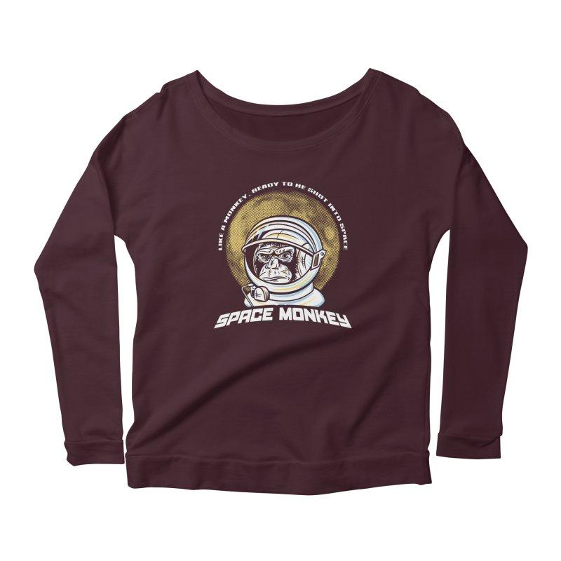 Space Monkey Women's Longsleeve T-Shirt by Fanboy30's Artist Shop