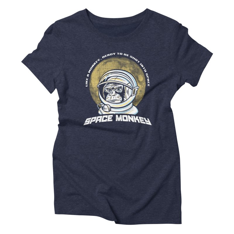Space Monkey Women's Triblend T-Shirt by Fanboy30's Artist Shop