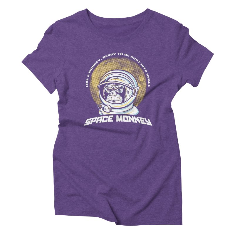 Space Monkey Women's Triblend T-shirt by Fanboy30's Artist Shop