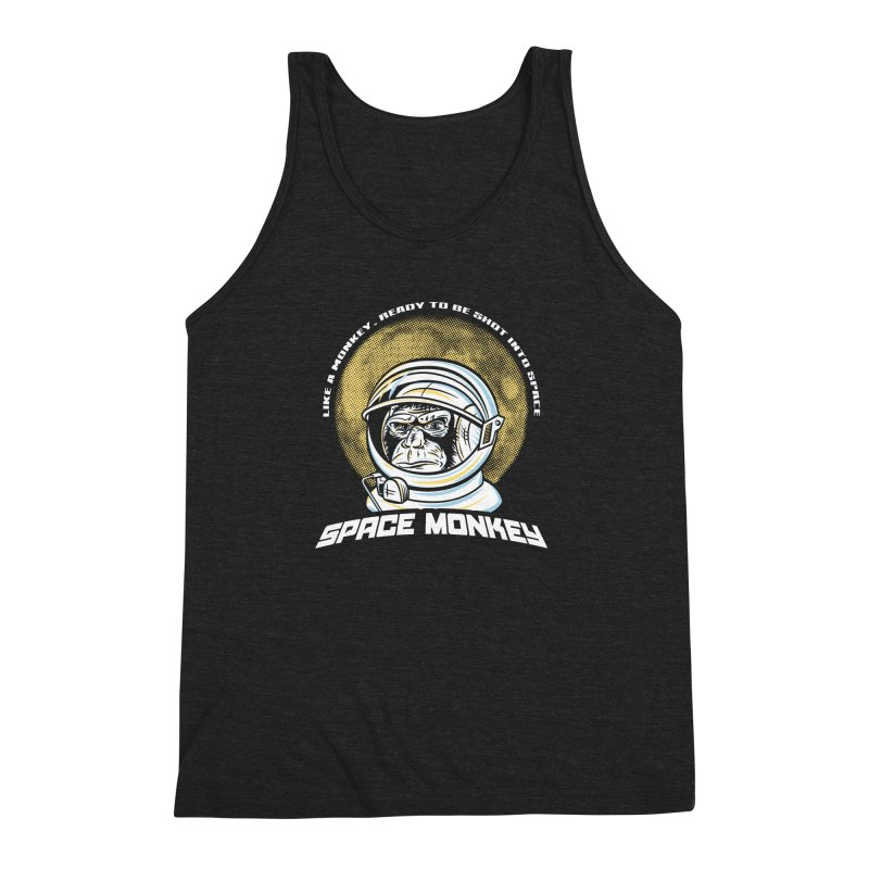 Space Monkey Men's Triblend Tank by Fanboy30's Artist Shop