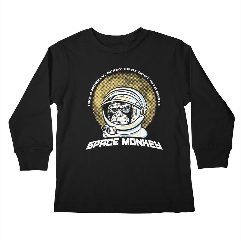Space Monkey Kids Longsleeve T-Shirt by Fanboy30's Artist Shop