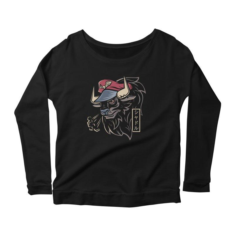 Master Bison Women's Longsleeve Scoopneck  by Fanboy30's Artist Shop