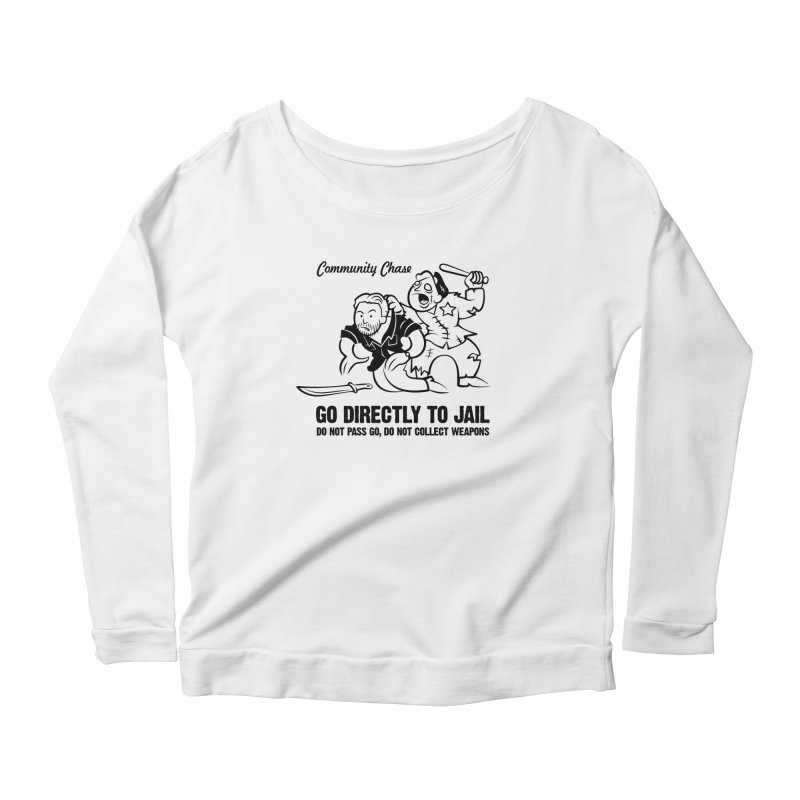 Community Chase Women's Longsleeve Scoopneck  by Fanboy30's Artist Shop