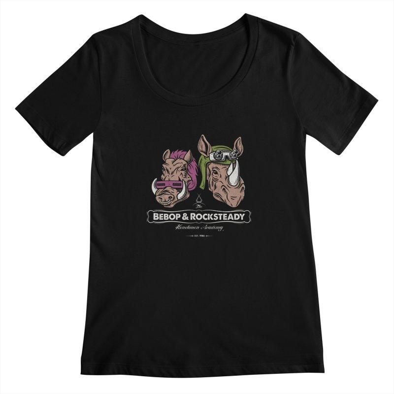 The Henchmen Academy  Women's Scoopneck by Fanboy30's Artist Shop