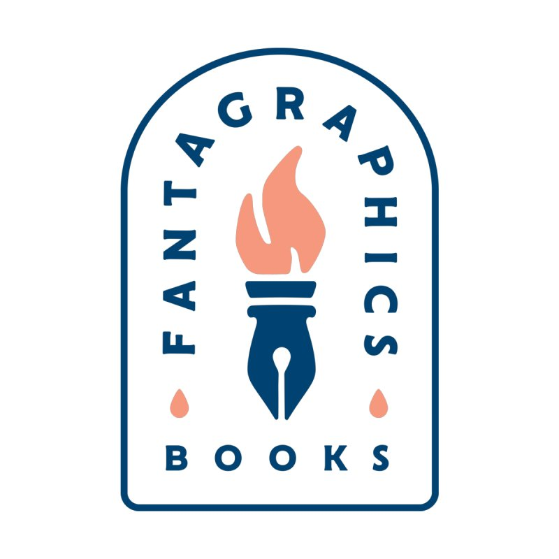 Fantagraphics Legacy Torch Logo (Blue) Men's T-Shirt by Fantagraphics