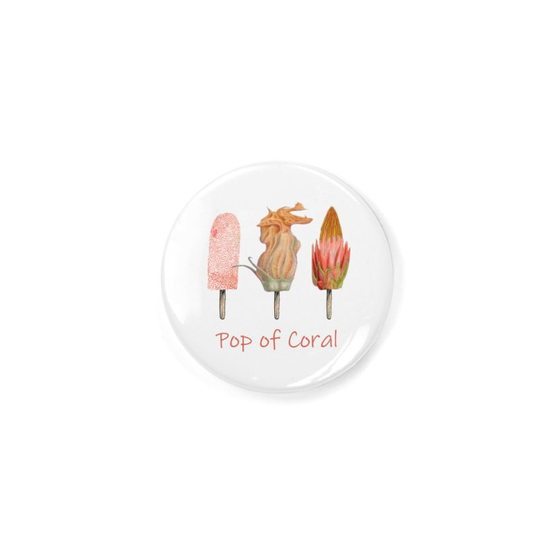Pop of Coral Accessories Button by FashionedbyNature's Artist Shop