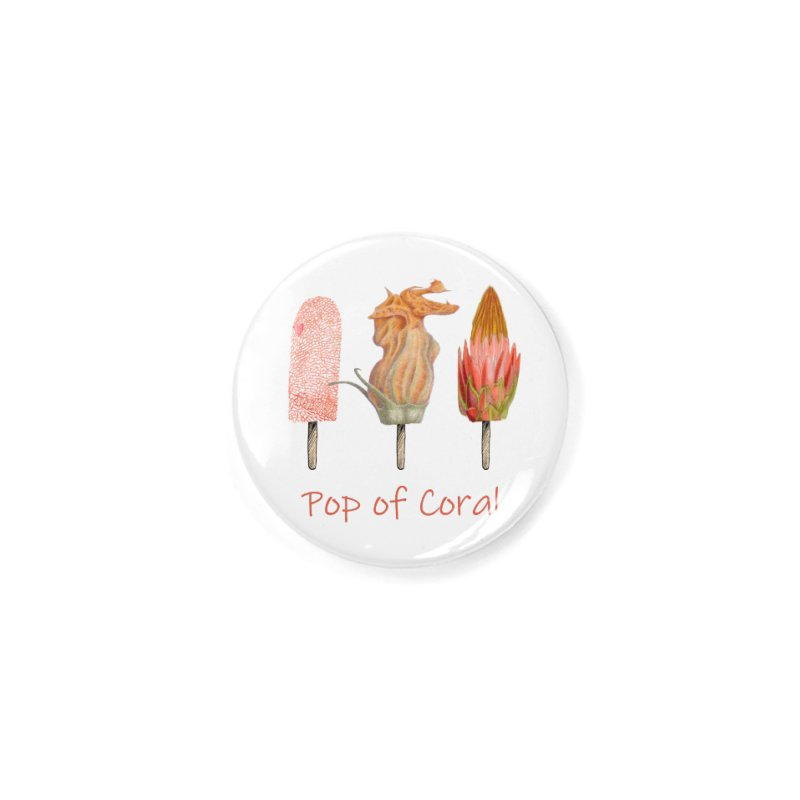 Pop of Coral Accessories Button by All Fashioned by Nature Artist Shop