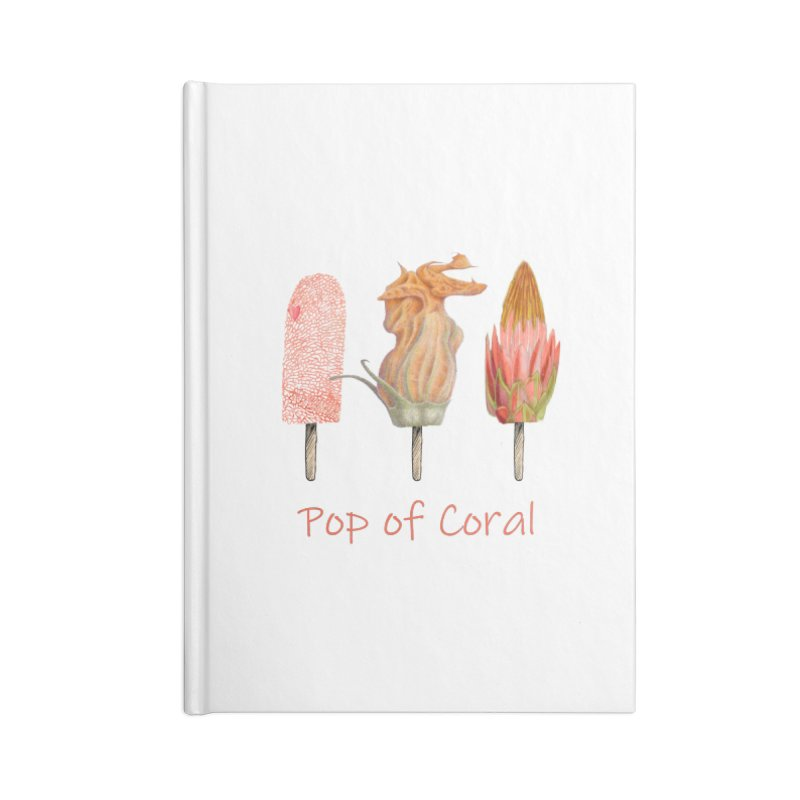 Pop of Coral Accessories Blank Journal Notebook by FashionedbyNature's Artist Shop