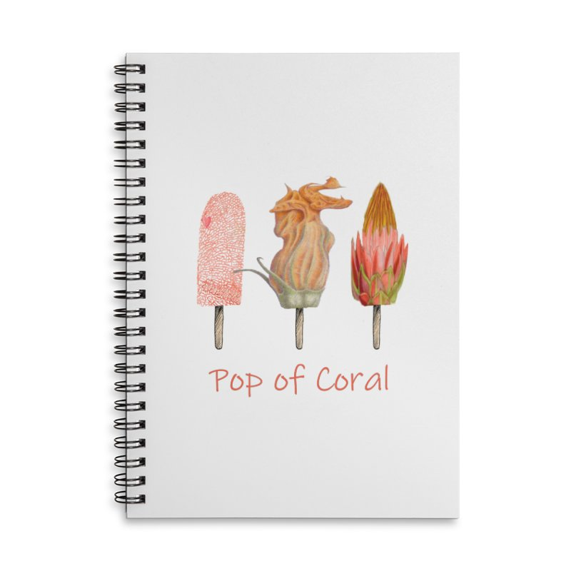 Pop of Coral Accessories Lined Spiral Notebook by FashionedbyNature's Artist Shop