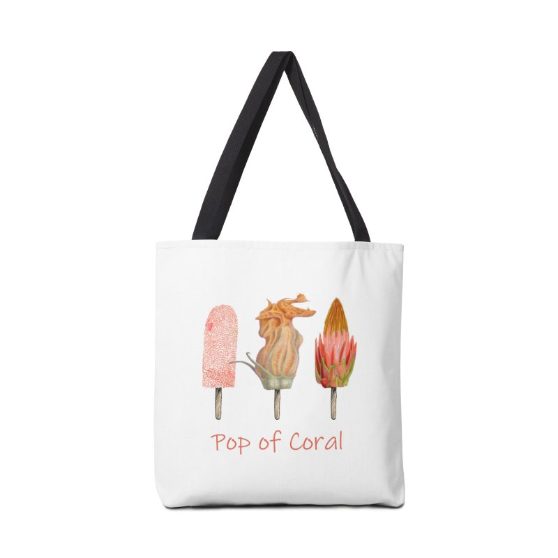 Pop of Coral Accessories Tote Bag Bag by FashionedbyNature's Artist Shop