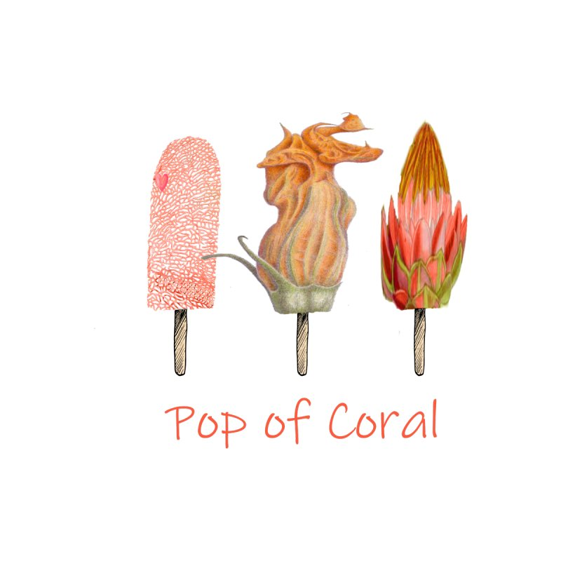 Pop of Coral Accessories Notebook by All Fashioned by Nature Artist Shop