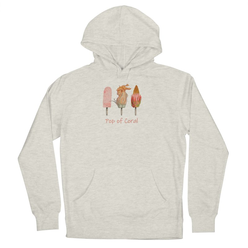 Pop of Coral Women's Pullover Hoody by All Fashioned by Nature Artist Shop