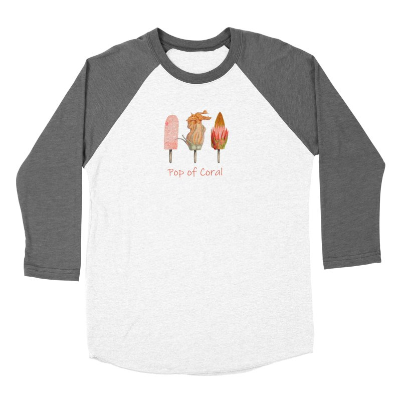 Pop of Coral Women's Longsleeve T-Shirt by All Fashioned by Nature Artist Shop
