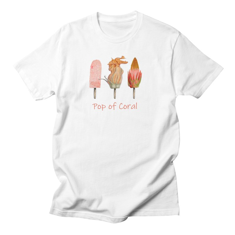 Pop of Coral Women's Regular Unisex T-Shirt by FashionedbyNature's Artist Shop