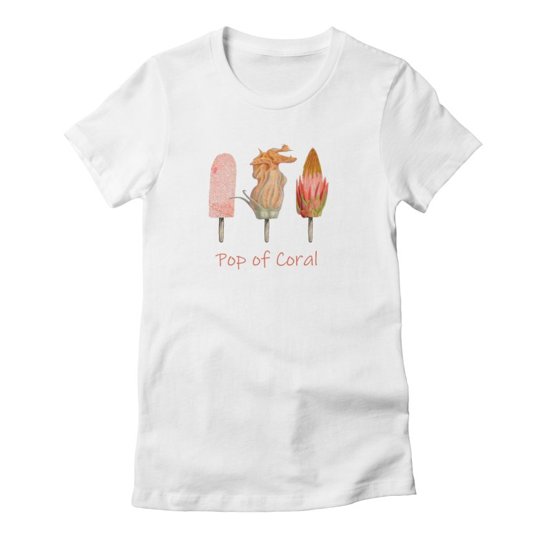 Pop of Coral Women's T-Shirt by All Fashioned by Nature Artist Shop