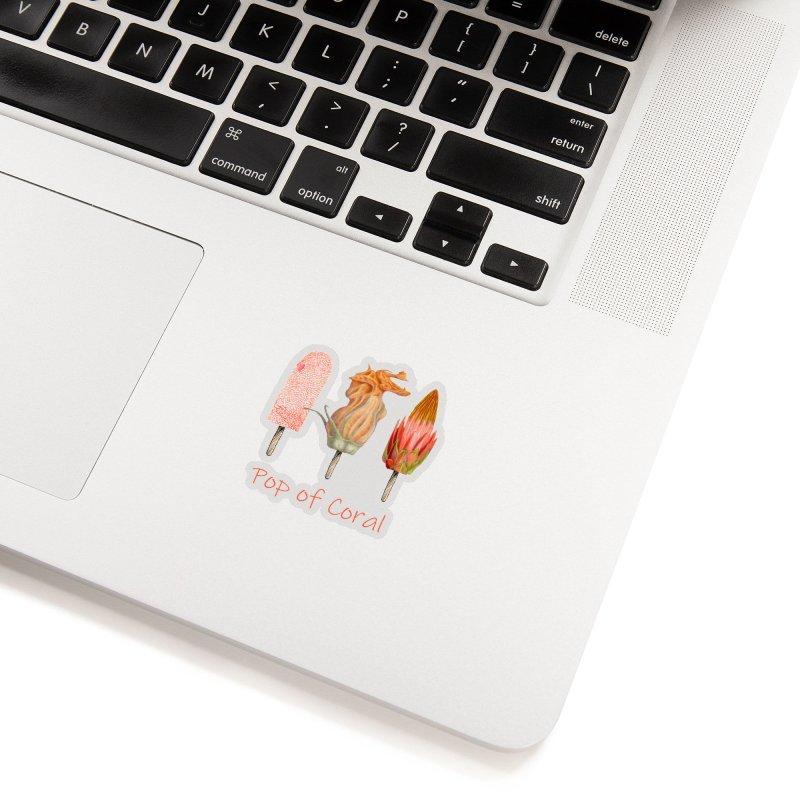 Pop of Coral Accessories Sticker by FashionedbyNature's Artist Shop