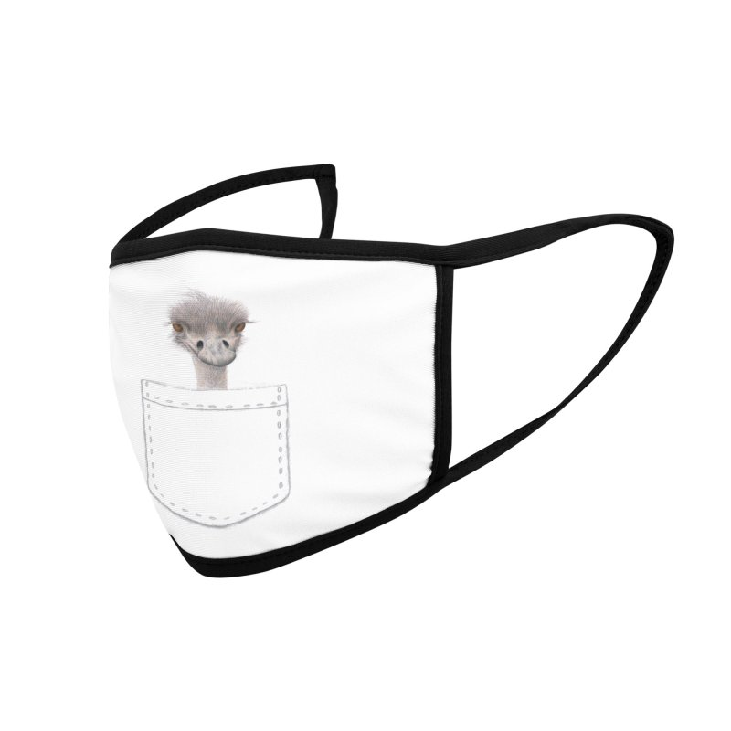 Ostrich in my Pocket Accessories Face Mask by All Fashioned by Nature Artist Shop