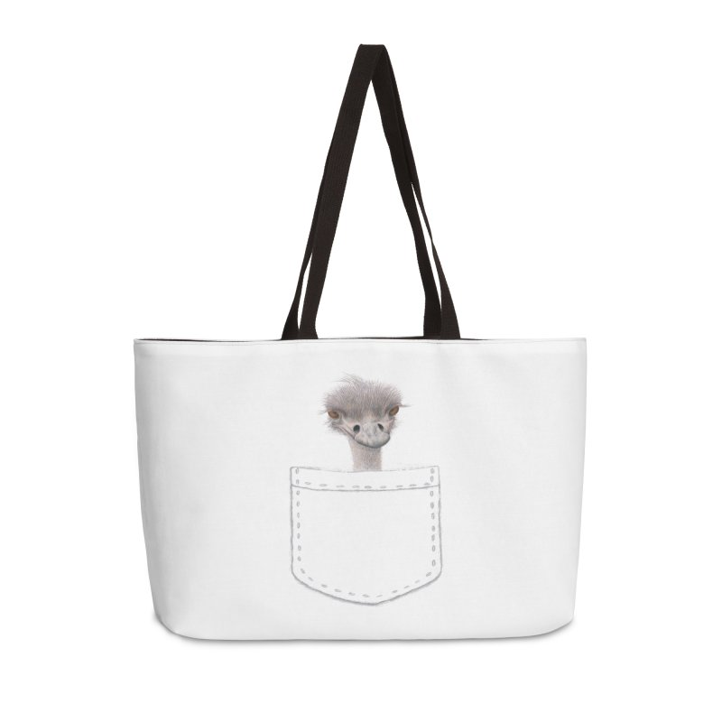 Ostrich in my Pocket Accessories Weekender Bag Bag by FashionedbyNature's Artist Shop