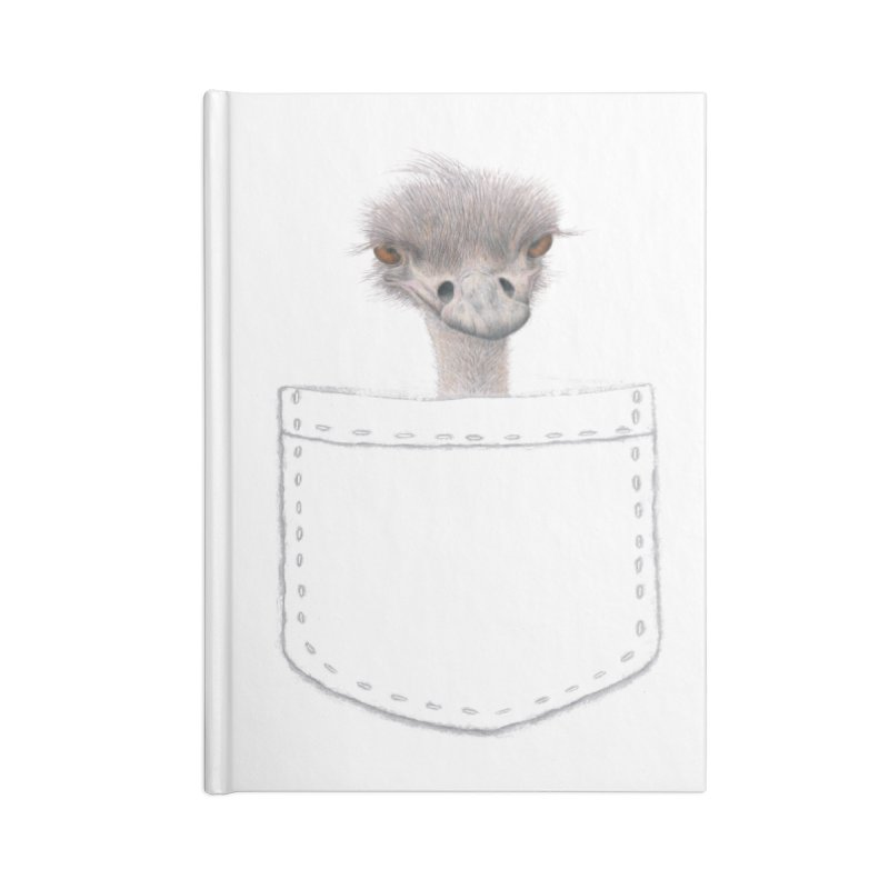 Ostrich in my Pocket Accessories Lined Journal Notebook by FashionedbyNature's Artist Shop