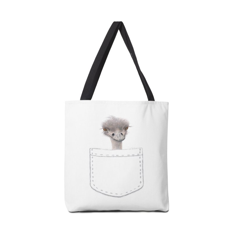 Ostrich in my Pocket Accessories Tote Bag Bag by FashionedbyNature's Artist Shop