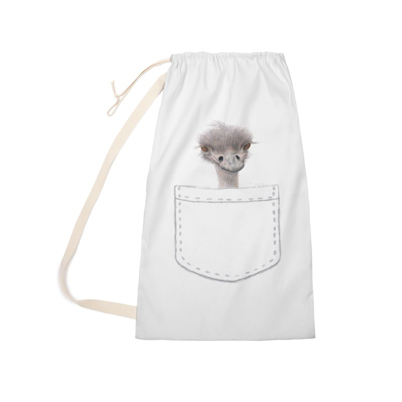 Ostrich in my Pocket Accessories Bag by All Fashioned by Nature Artist Shop