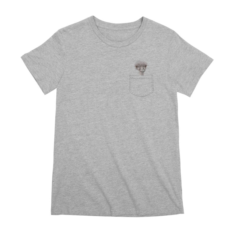 Ostrich in my Pocket Women's Premium T-Shirt by FashionedbyNature's Artist Shop
